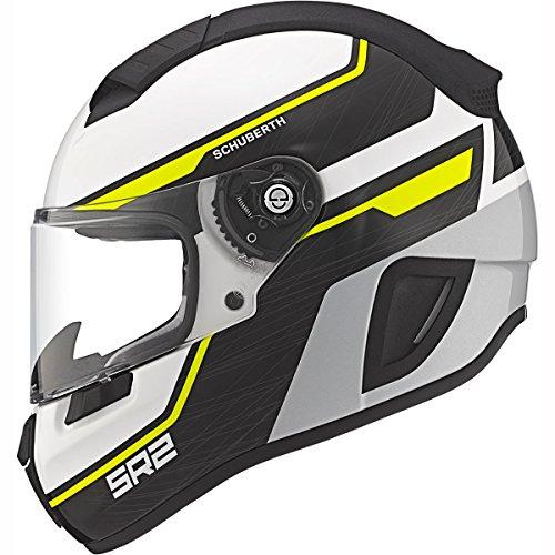 Schuberth SR2deportes/Race Full Face casco de moto Lightning amarillo