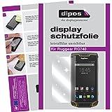 dipos I 6X Schutzfolie klar kompatibel mit Ruggear RG740 Folie Bildschirmschutzfolie