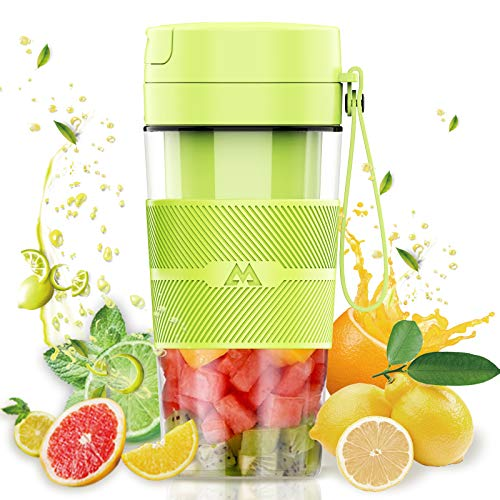 Miceshu Portable Blender Personal Blender for Shakes and Smoothies Mini Mixer Smoothies Maker Fruit Blender Cup With Rechargeable 10oz300ml for Home Office Sports Travel Outdoors BPA Free