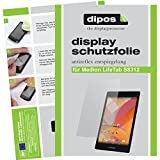 dipos I 2X Schutzfolie matt kompatibel mit Medion Lifetab S8312 (MD 98989) Folie Bildschirmschutzfolie