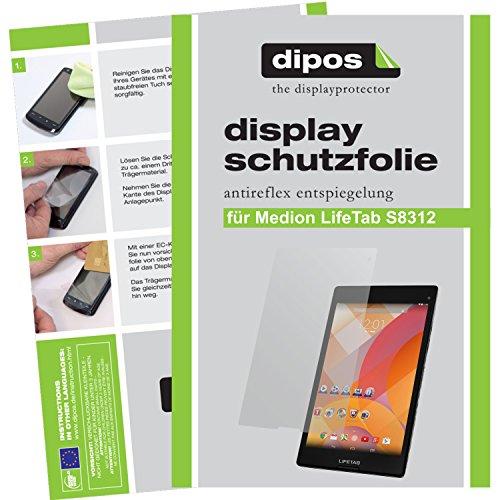 dipos I 2X Schutzfolie matt kompatibel mit Medion Lifetab S8312 (MD 98989) Folie Displayschutzfolie