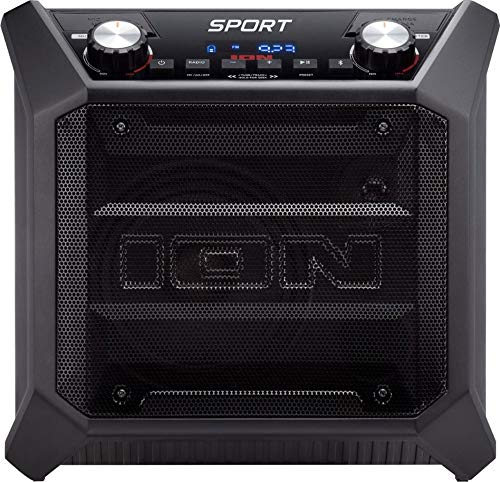 ION Audio SPORT Wireless All-Weather Rugged Bluetooth Speaker System (Sport Tailgater) (Renewed)
