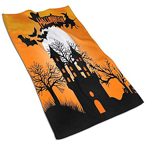 Halloween Party Monster Zombie Haus Baum und Fledermaus Handtuch Ultra Soft High Absorbent Handtücher Für Badezimmer Gym Spa 40 * 70Cm
