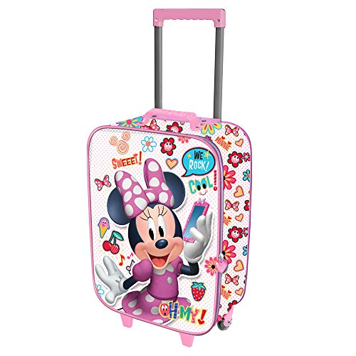 Karactermania Minni Mouse Ohmy!-Valigia Trolley Soft 3D Equipaje Infantil 52 Centimeters 23...