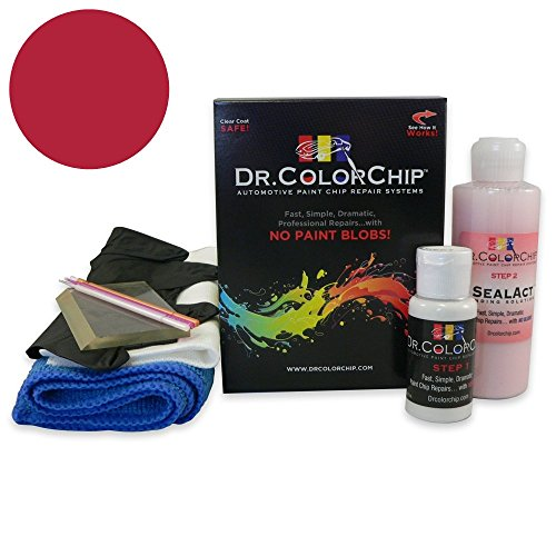 Dr. ColorChip Volvo All Models Automobile Paint - Ruby Red Pearl 414 - Squirt-n-Squeegee Kit