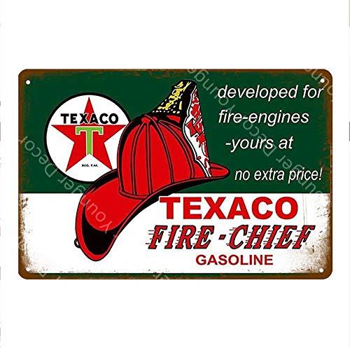 Shovv Texaco metalen borden op benzine Caltex motorolie poster muursticker vintage kunst schilderij plak tankstation winkel garage decor
