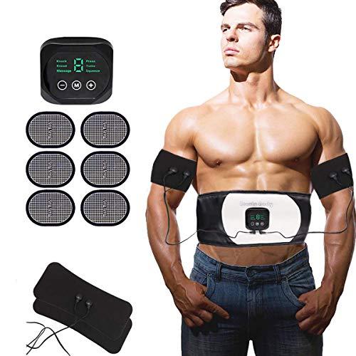 Nitoer Elettrostimolatore per Addominali Elettrostimolatore Muscolare EMS Stimolatore Muscolare Addominali Trainer ABS Stimulator per Braccio/Gambe/Waist/Glutei 6 modalità e 18 Livelli di Intensità