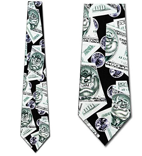 Corbata Taz Money Tie Hombre Looney Tunes