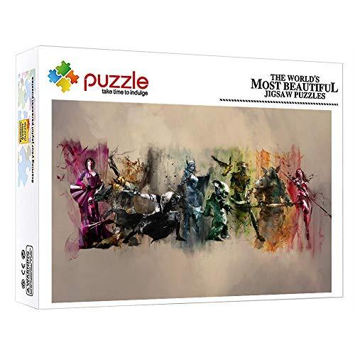ZTCLXJ Puzzles Puzzle 1000 Piezas Figuras De La Mitología Occidental 1000 Piezas Puzzles Progresivos para Niños Adultos Educativos Juegos para La Decoración De La Pared De La Casa 38 × 26 Cm