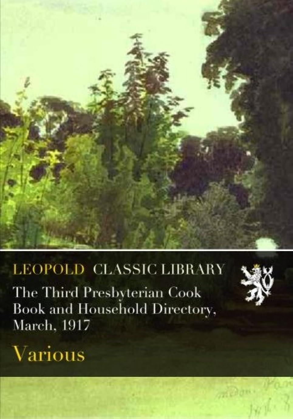酸化物パス日没The Third Presbyterian Cook Book and Household Directory, March, 1917
