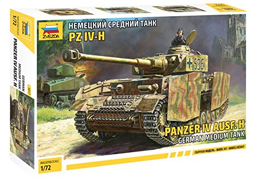 ZVEZDA 500785017 - 1:72 Panzer IV Ausf.H (Sd.Kfz.161/2), Modellbau, Bausatz, Standmodellbau, Hobby, Basteln, Plastikbausatz