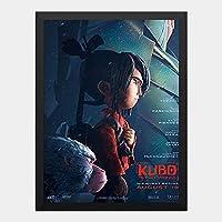 ハンギングペインティング - KUBO クボ 二本の弦の秘密 2のポスター 黒フォトフレーム、ファッション絵画、壁飾り、家族壁画装飾 サイズ:33x24cm(額縁を送る)