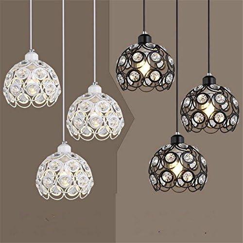 Luminaire suspendu moderne E27 Hanglamp Loft Suspension luminaire cristal boule Lustres LED Hanglamp pour salle à hommeger cuisine chambre à coucher, 1 tête whte