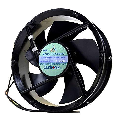 N / A Cooling Fan SJ2206HA2,Server Cooler Fan SJ2206HA2 220V, All Metal High Temperature Resistant axial Flow Fan for 220x220x60mm 2-Wire