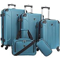 Travelers Club Sky+ 5-Piece Luggage Set (Teal)