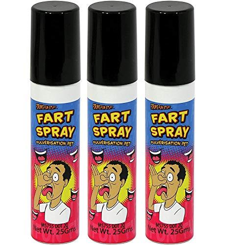 Dash Fun - Liquid Fart Spray - 3x Stinky Party Gag Gift Prank Humor Bad Ass Smelly