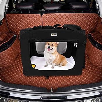 Mc Star Sac de Transport Pliable pour Chien Chat Pet Chien Voiture Boîte Oxford Tissu Noir L