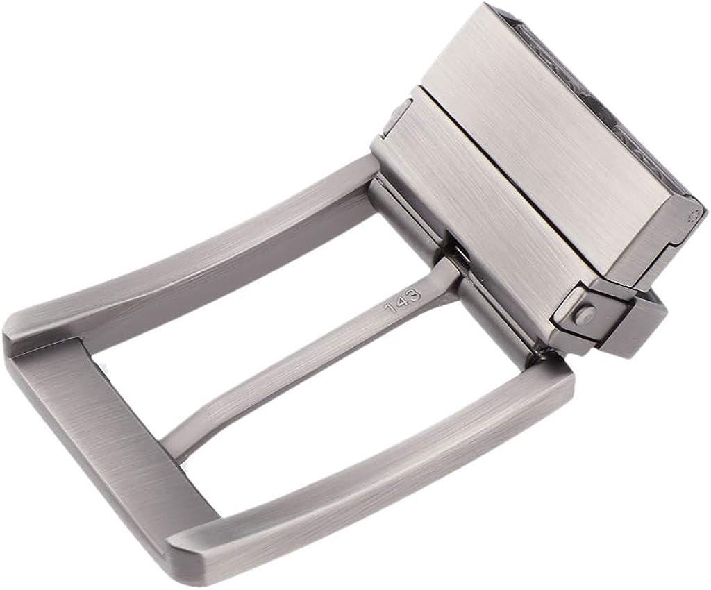 F Fityle Reemplazo De Metal De Hebillas De Cinturón De Un Solo Diente Reversible Vintage