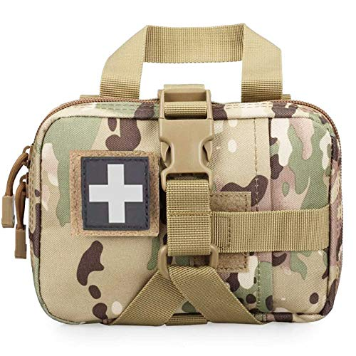 Ifak Pouch Rip Away Molle Medical Pouch, Tactical First Aid Medic Pouch Empty Only Belt EMT Tactical Pouches