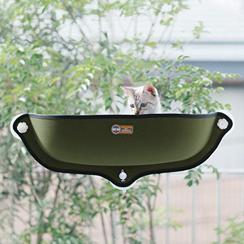 K&H WINDOW BED KITTY SILL OLIVE GREEN/KHBD6297OL/ウィンドウベッド/ネジ式吸盤猫用ベッド/オリーブグリ...