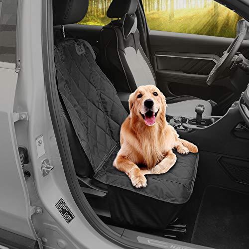 Zodae Hund Autositzbezug rutschfest wasserdicht Haustier Sitzbezug Autoschutzdecke für Fahrersitz Vordersitze (Schwarz)