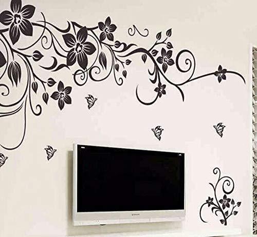 Wall Sticker Fashion Romantic Flower Wall Stickerwall Stickers Home Decor 3d Wallpaper Free Shipping