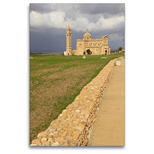 CALVENDO Premium Textil-Leinwand 80 x 120 cm Hoch-Format TA' Pinu National Shrine, Gozo, Leinwanddruck von flybluehigh