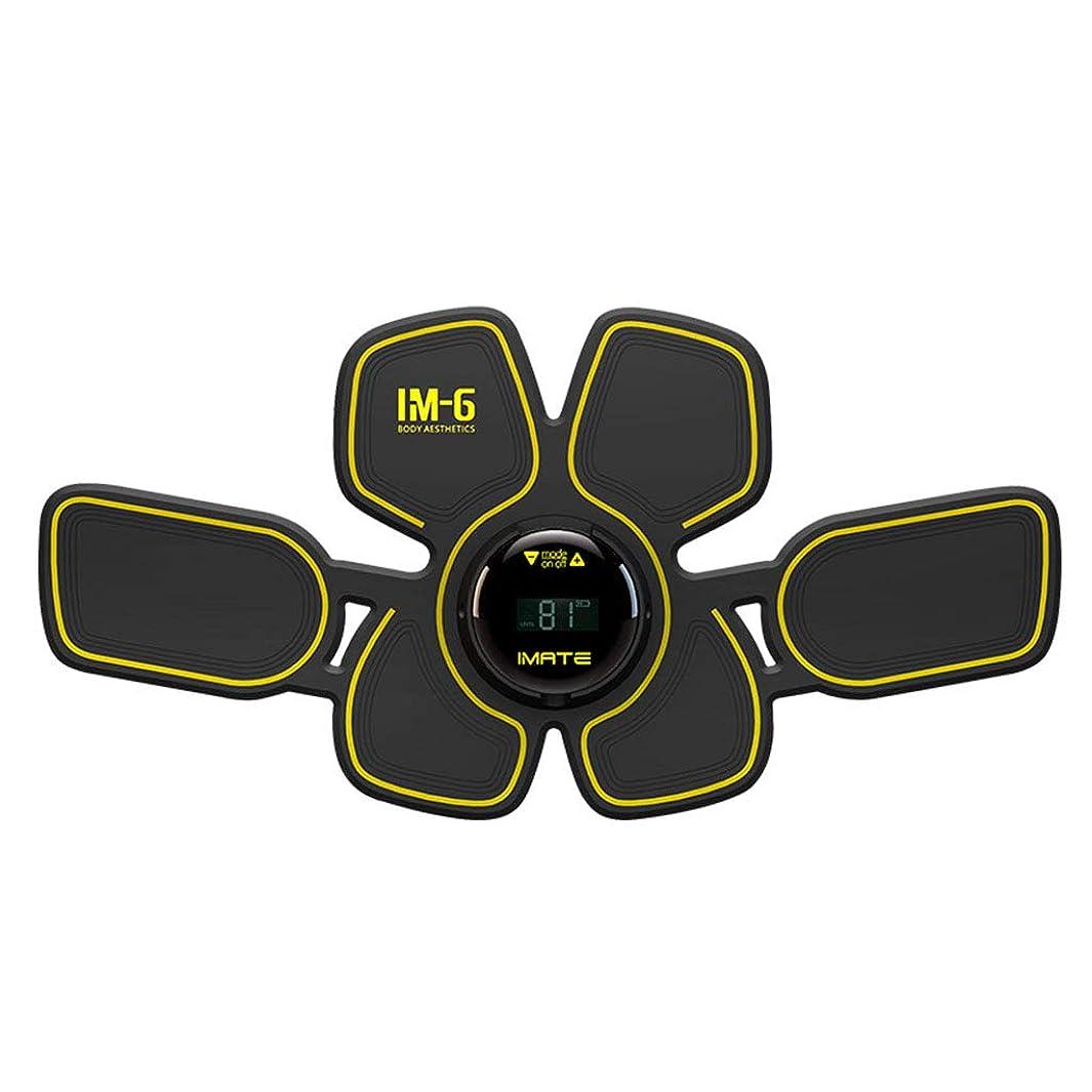 世界的に発見する装置フィットネス薄いベルト、ボディビルディング腹部ベルト腹筋トレーナー怠惰な体整形筋刺激装置ホームオフィス男性と女性の腹筋トレーナー (Color : BLACK, Size : 38*19*1.5CM)