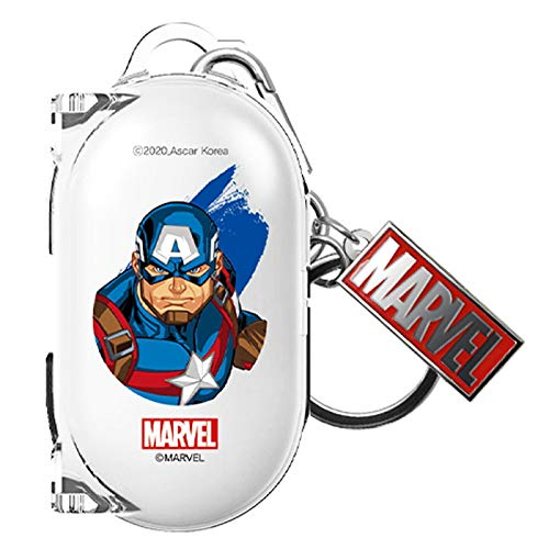 Clear Case Cover with Avengers Character for Samsung Galaxy Buds/Galaxy Buds+ Plus (Captain America)