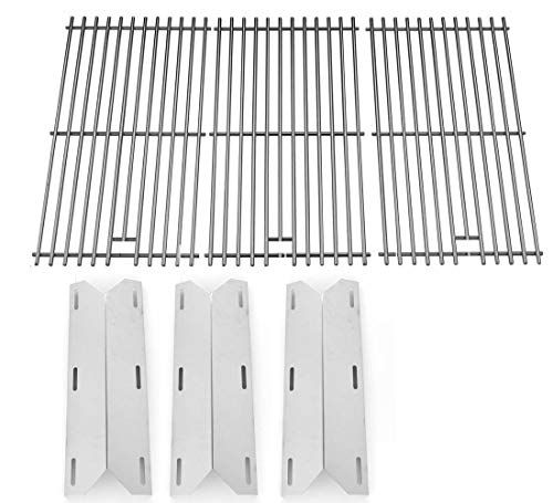 Repair Kit for Sam's 720-0586, Member's Mark, Lowes 730-0337, 730-0339, Jenn-Air 720-0062-LP, Home Depot & Glen Canyon Includes 3 Heat Plate & Stainless Steel Cooking Grates (Set of 3)