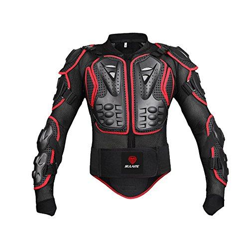 GTYW, Motocicleta, Scooter, Verano, Chaqueta, Armadura De Bicicleta De Campo Traviesa, Armadura Aprobada CE, Chaqueta Protectora - Negro, Rojo,Red-L