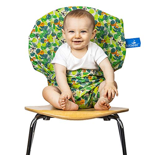 totseat - La chaise haute de voyage primée portable originale, réglable, lavable, sûre et pratique pour les enfants de 6 à 30 mois