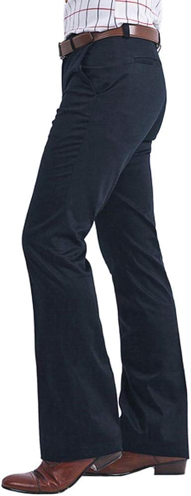 1970s Men's Clothes, Fashion, Outfits HAORUN Men Bell Bottom Pants 60s 70s Vintage Flare Formal Dress Trousers Slim Fit  AT vintagedancer.com
