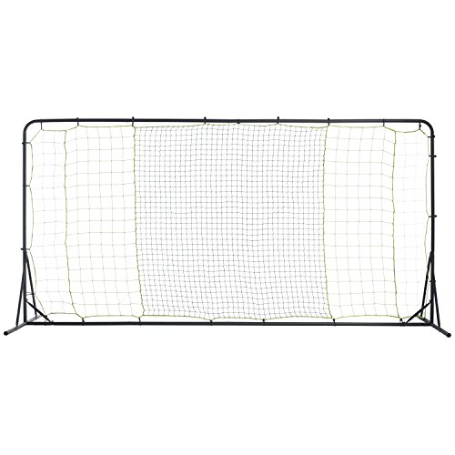 Franklin Sports Soccer Rebounder - Tournament Steel Soccer Rebounding Net - Perfect For Backyard Soccer Practice and Soccer Training - 12'x6' Soccer Bounce Back Rebounder - Silver