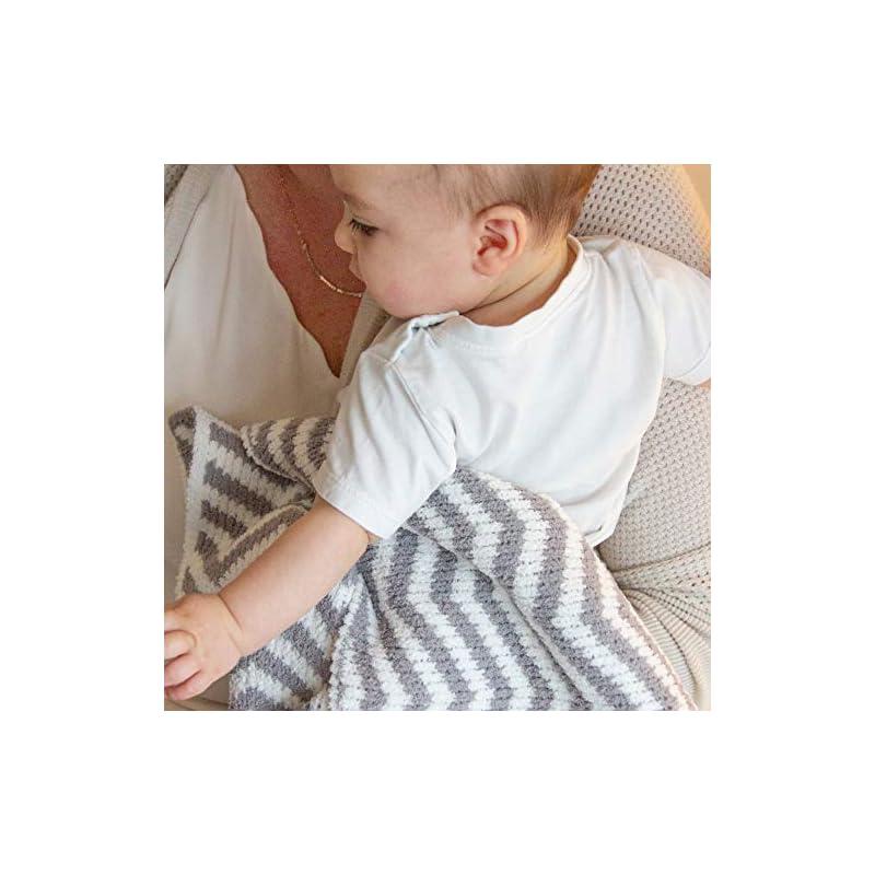 crib bedding and baby bedding living textiles chevron chenille soft baby blanket premium cozy fabric for best comfort - for infant,toddler,newborn,nursery,boy,girl,unisex,throw,crib,stroller,gift, grey chevron 40x30