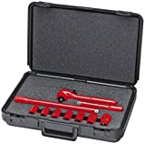 KNIPEX Tools - 98 99 11 S3 Insulated Socket Wrench Set, 10 pc. (989911S3)