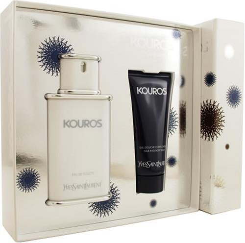 Kouros By Yves Saint Laurent For Men. Set-edt Spray 3.3 Ounces & Shower Gel 3.3 Ounces