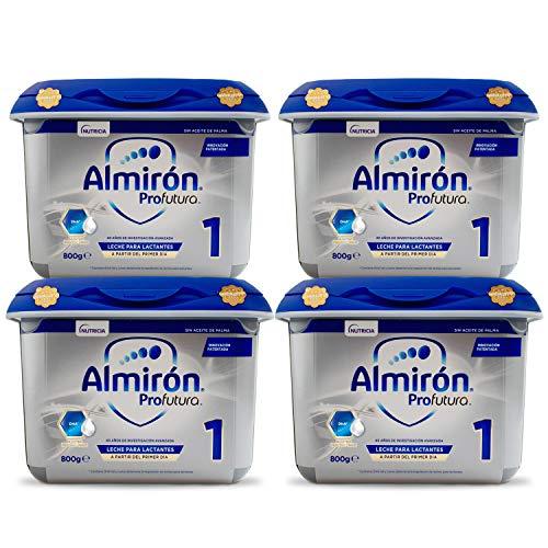 Almirón Profutura 1 Leche de Inicio en Polvo a Partir del Primer Día - Pack de 4x 800g- Total 3,2kg