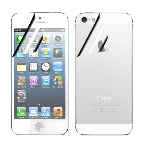 PELLICOLA PROTEGGISCHERMO anti-graffio 2 X 1 FRONTE RETRO trasparente OPACA per Apple iPHONE 5 5G