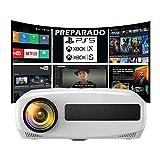 """Proyector 4K, Luximagen UHD400, Proyector con Android, 7500 Lúmenes, Fullhd Nativo, Cine en Casa 300"""", Dolby Digital AC3, Keystone 4D, 90000 Horas, Preparado para PS5, Xbox Series, Zoom Digital"""