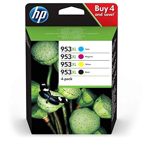 HP HP 953XL Multipack  Blau Rot Gelb Schwarz  Original Bild