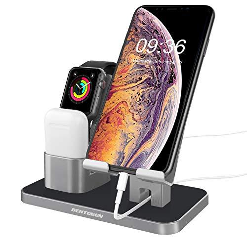 BENTOBEN Soporte Apple Watch, 2 en 1 Estación de carga multifuncional portátil de plástico para Apple Watch iPhone 5S iPhone 6