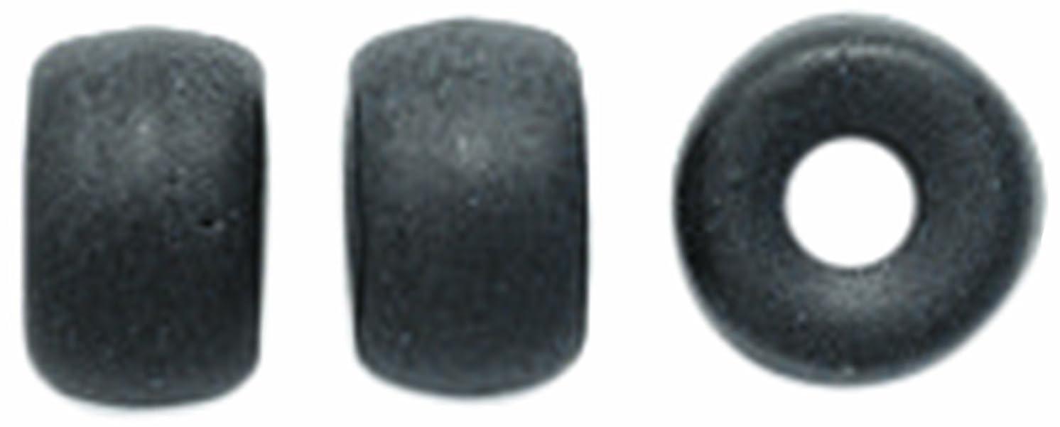 Preciosa Ornela Traditional Czech Glass Roller Loose Beads, 6mm, Black Matte, 200-piece
