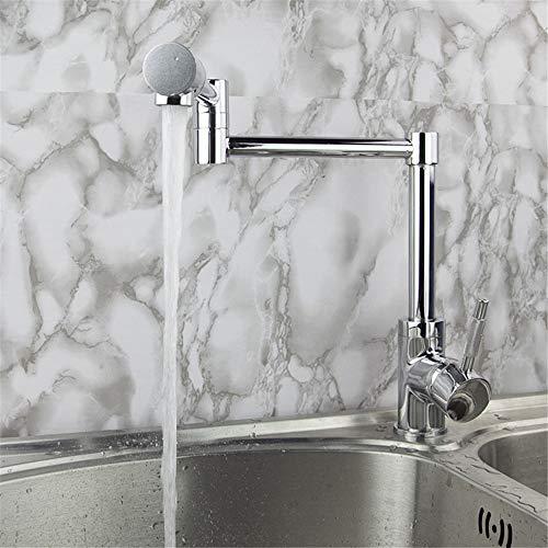 YAWEDA koperen keukenkraan Retro enkele verbinding huishoudarmaturen waterkraan mode innovatieve koud water mengkraan enkele gat Lifting spoelbak waterkraan één greep