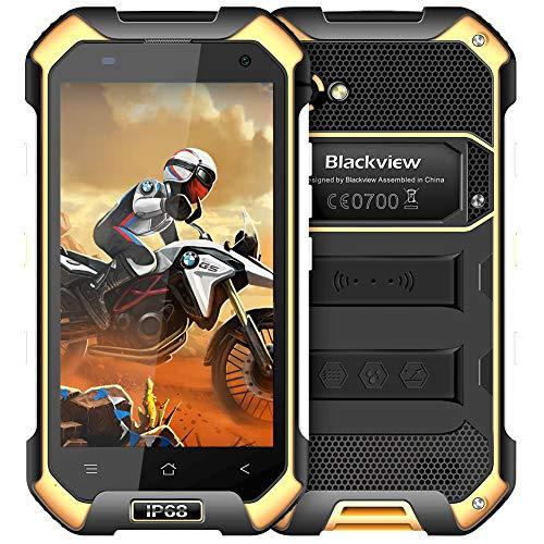 """Blackview BV6000S, Movil Antigolpes de 4.7"""" (4G, 16 GB ROM, 2 GB RAM, Batería 4500 mAh, Cámara de 8 MP, IP68 Impermeable, a Prueba de Golpes y Polvo, Android 7.0 Telefono Resistente) - Amarillo"""