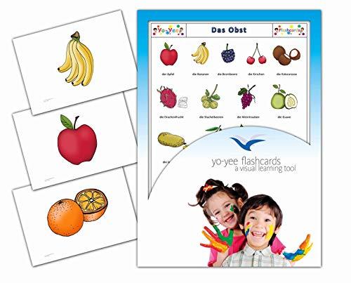 Yo-Yee Flashcards Bildkarten für den Deutschunterricht - Obst - Erweitere spielerisch Grundwortschatz, Satzbau und Grammatik - Inklusive Spielideen und Einsatzmöglichkeiten