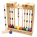 AmishToyBox.com Family Traditions 8-Player Croquet Set with Wooden Stand
