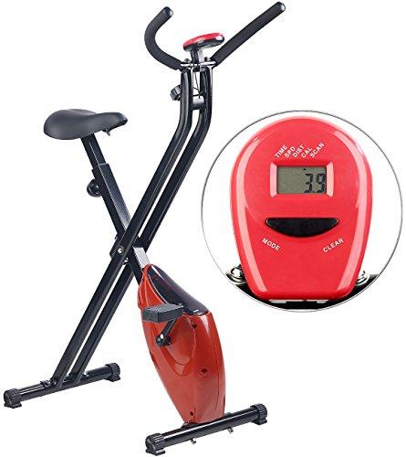 PEARL sports Hometrainer klappbar: Klappbarer Heimtrainer mit Trainings-Computer, 1,6 kg Schwungmasse (Fitness Fahrrad)