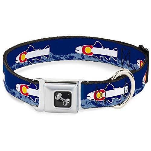 Buckle Down dc-w35580-wl Sicherheitsgurt für Hunde, groß, Forellen-Flagge, Blau/Weiß/Rot/Gelb