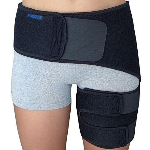 Hip Brace - Sciatica Pain Relief Brace - Groin Thigh Hamstring Compression Sleeve Support Men Women SI Joint Hip Flexor Labral Tear Arthritis Bursitis Belt Sciatic Nerve Wrap Spica Stabilizer Strain